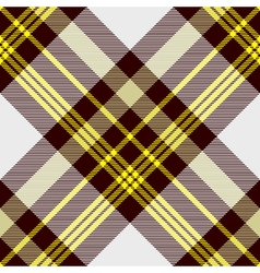Seamless tartan plaid pattern in yellow white and vector