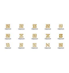 Set initial z letter logo template vector