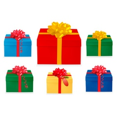 set of Christmas boxes vector image