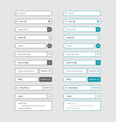 set of search bar design elements vector image