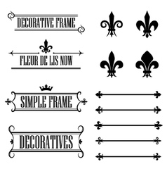 Set of vintage frames deviders and borders vector image
