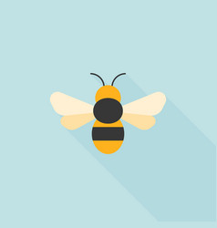 simple bee icon flat design vector image