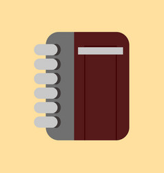 simple flat notebook vector image