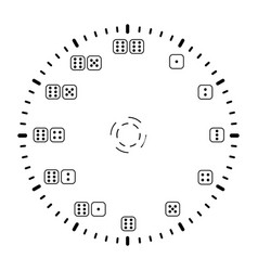 simple minimal clock design dial plate vector image