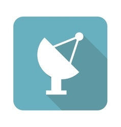 Square satellite dish icon vector image