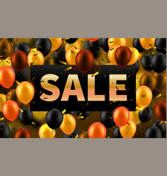 stock golden sale discounts vector image