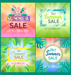 summer sale set of banners vector image
