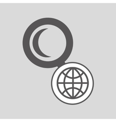 Technology globe searching media graphic vector