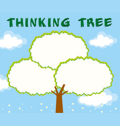 tree with empty space for text vector image