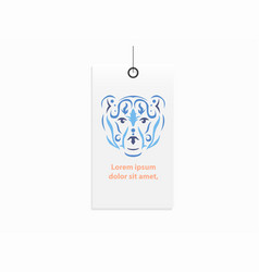 Tribal bear clothes label mock up vector