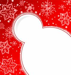 ugly snow background vector image