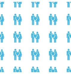 Unique Love seamless pattern vector image
