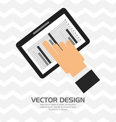 user profile design vector image