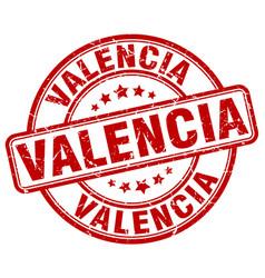 Valencia red grunge round vintage rubber stamp vector