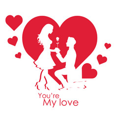 Valentine day you my love image vector