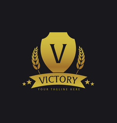 Victory hotel logo and emblem logo vector