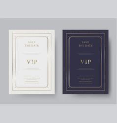 Vintage luxury invitation card template vector