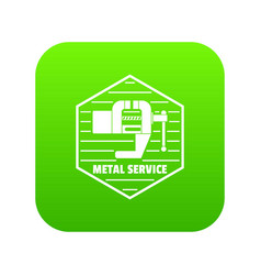 Vise icon green vector
