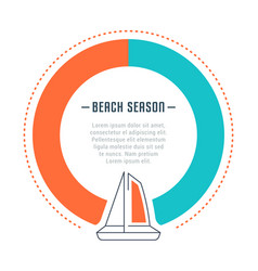 website banner and landing page beach season vector image