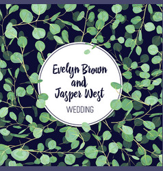 wedding invitation save and date banner label vector image