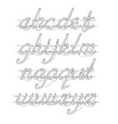 White neon lowercase script font vector