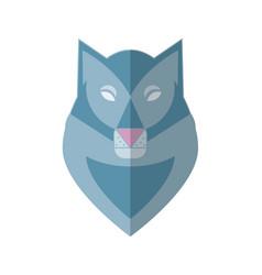 Wolf head flat vector