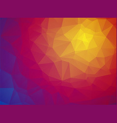wonderful color triangular red yellow blue vector image