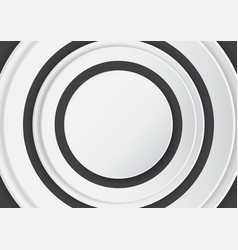 abstract white circle on black background vector image vector image