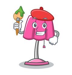 Artist furniture lamp character cartoon vector