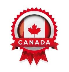 Canada flag badge vector image