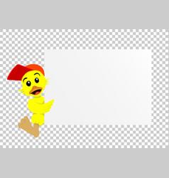 duck paper transparent vector image
