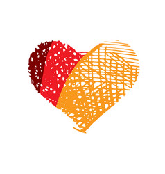 heart logo vector image