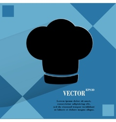 Chef cap Cooking Flat modern web button on a flat vector image
