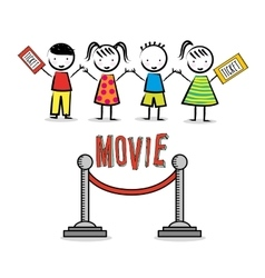 Children cinema design vector image