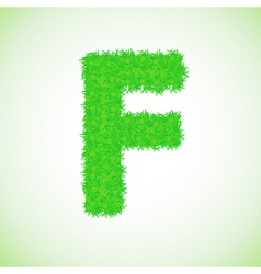 grass letter F vector image