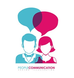 people communication vector image vector image