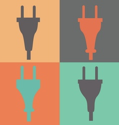 Set of electric plug sign icon Power energy symbol vector image