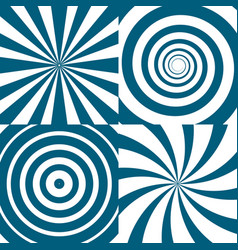 set of twirls psychedelic circles and vector image