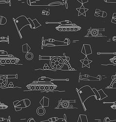War silhouettes seamless background vector image vector image