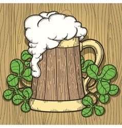 Beer Mug in Cartoon Style vector image vector image