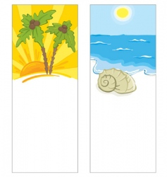 cards with the marine theme vector image