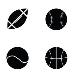 collection of sports balls vector image vector image