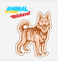 farm animal guard dog in sketch style on colorful vector image