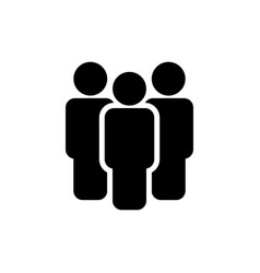 people icon sign isolated on white vector image