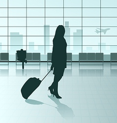 traveling girl vector image vector image