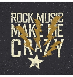 Vintage label with lightning magnet to star Rock vector image