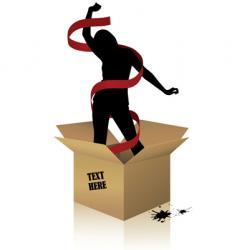 woman box vector image vector image