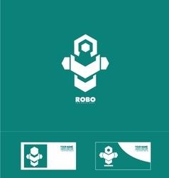 Abstract robot technology logo vector image vector image