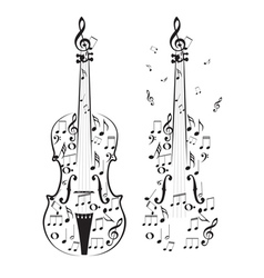 Violin with Notes vector image