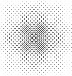 Abstract black white thorn pattern design vector